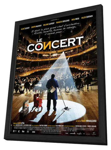 Le concert 11 x 17 Movie Poster - French Style A - in Deluxe Wood Frame