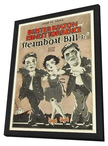 Steamboat Bill, Jr. 11 x 17 Movie Poster - Style B - in Deluxe Wood Frame