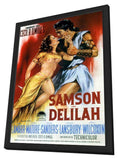 Samson and Delilah 11 x 17 Movie Poster - German Style B - in Deluxe Wood Frame