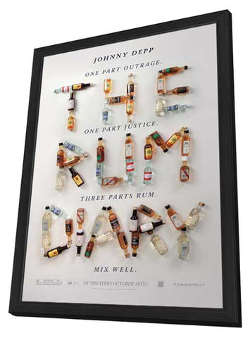 The Rum Diary 11 x 17 Movie Poster - Style D - in Deluxe Wood Frame