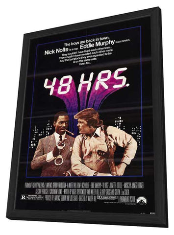 48 Hrs. 11 x 17 Movie Poster - Style A - in Deluxe Wood Frame