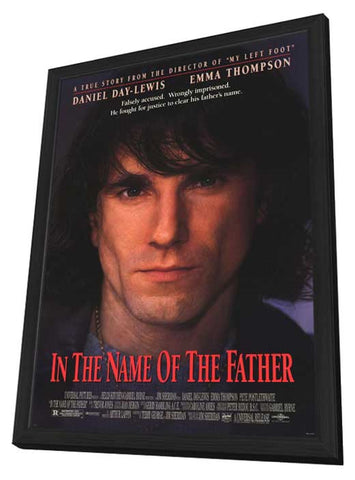 In the Name of the Father 11 x 17 Movie Poster - Style A - in Deluxe Wood Frame