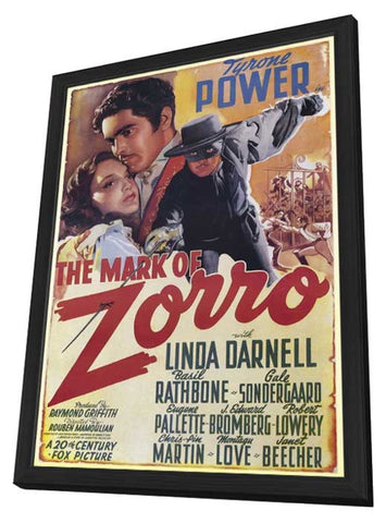 The Mark of Zorro 11 x 17 Poster - Foreign - Style A - in Deluxe Wood Frame