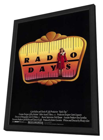 Radio Days 11 x 17 Movie Poster - Style A - in Deluxe Wood Frame