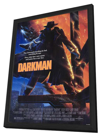 Darkman 11 x 17 Movie Poster - Style A - in Deluxe Wood Frame