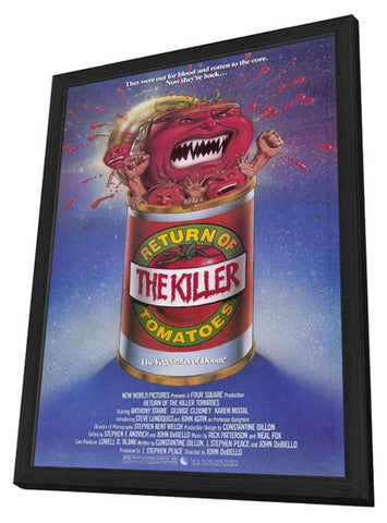 Return of the Killer Tomatoes 11 x 17 Movie Poster - Style A - in Deluxe Wood Frame