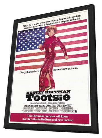 Tootsie 11 x 17 Movie Poster - Style A - in Deluxe Wood Frame