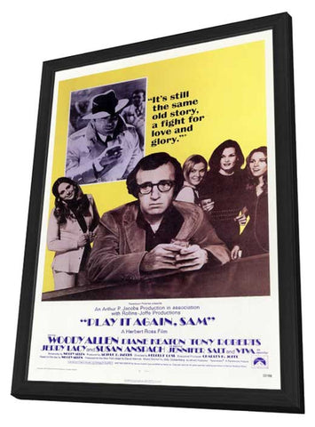 Play It Again Sam 11 x 17 Movie Poster - Style A - in Deluxe Wood Frame