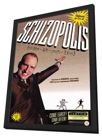 Schizopolis 11 x 17 Movie Poster - Style A - in Deluxe Wood Frame