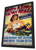 With a Song in My Heart 11 x 17 Movie Poster - Style A - in Deluxe Wood Frame