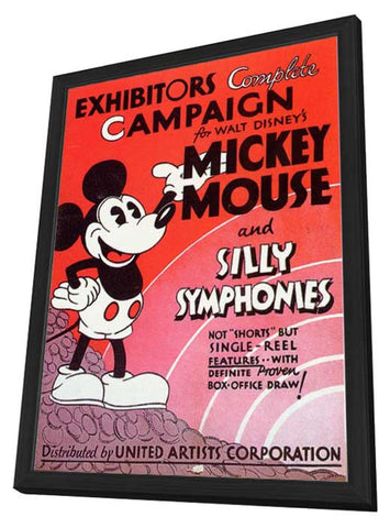 Mickey Mouse and Silly Symphonies 11 x 17 Movie Poster - Style A - in Deluxe Wood Frame