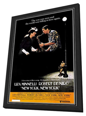 New York New York 11 x 17 Movie Poster - Style A - in Deluxe Wood Frame