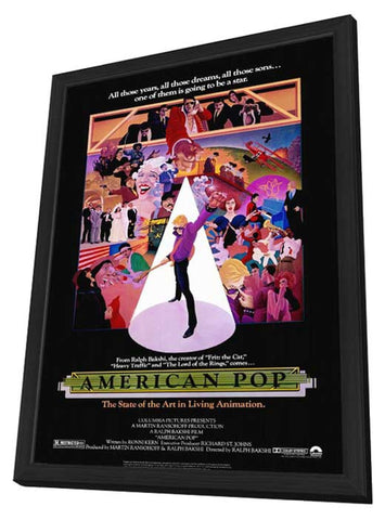 American Pop 11 x 17 Movie Poster - Style A - in Deluxe Wood Frame