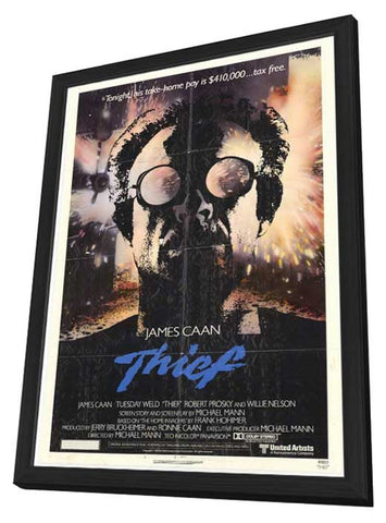Thief 11 x 17 Movie Poster - Style A - in Deluxe Wood Frame