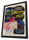 Return of the Fly 11 x 17 Movie Poster - Style C - in Deluxe Wood Frame
