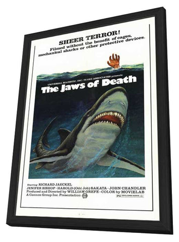 The Jaws of Death 11 x 17 Movie Poster - Style A - in Deluxe Wood Frame
