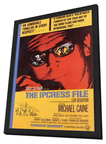 The Ipcress File 11 x 17 Movie Poster - Style C - in Deluxe Wood Frame