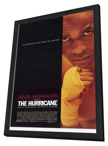The Hurricane 11 x 17 Movie Poster - Style A - in Deluxe Wood Frame