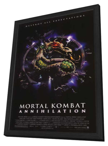 Mortal Kombat 2: Annihilation 11 x 17 Movie Poster - Style B - in Deluxe Wood Frame