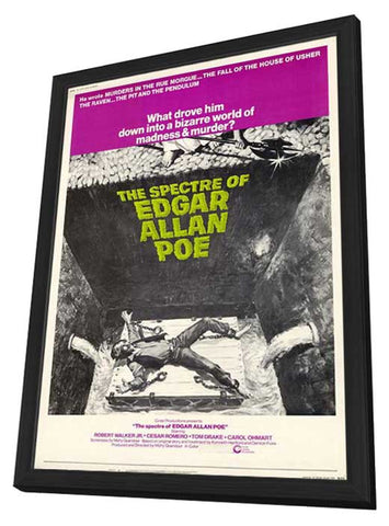 The Spectre of Edgar Allan Poe 11 x 17 Movie Poster - Style A - in Deluxe Wood Frame