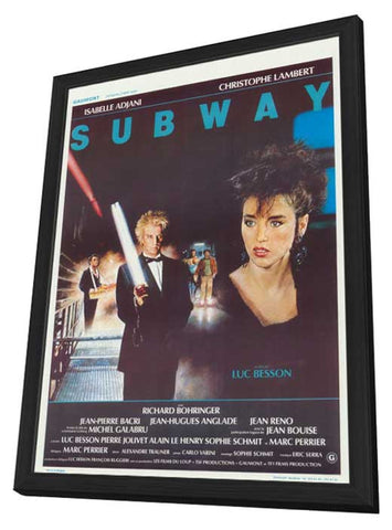 Subway 11 x 17 Movie Poster - Belgian Style A - in Deluxe Wood Frame
