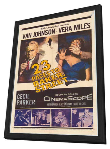23 Paces to Baker Street 11 x 17 Movie Poster - Style A - in Deluxe Wood Frame