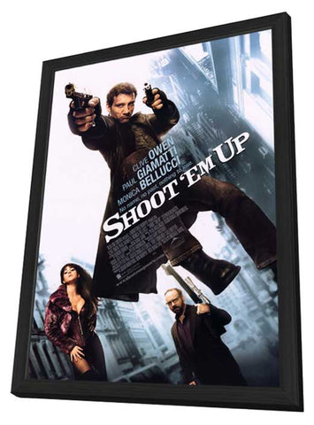 Shoot 'Em Up 11 x 17 Movie Poster - Style A - in Deluxe Wood Frame
