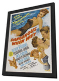 Dangerous When Wet 11 x 17 Movie Poster - Style A - in Deluxe Wood Frame