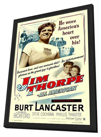 Jim Thorpe - All-American 11 x 17 Movie Poster - Style A - in Deluxe Wood Frame