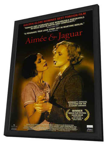Aimee and Jaguar 11 x 17 Movie Poster - Style A - in Deluxe Wood Frame