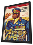 General Idi Amin Dada: A Self Portrait 11 x 17 Movie Poster - Style A - in Deluxe Wood Frame