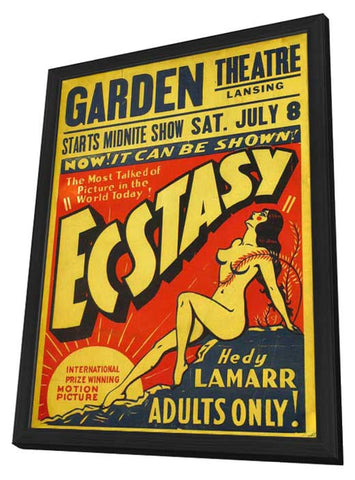 Ecstasy 11 x 17 Movie Poster - Style B - in Deluxe Wood Frame