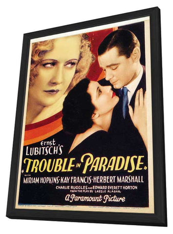 Trouble in Paradise 11 x 17 Movie Poster - Style A - in Deluxe Wood Frame