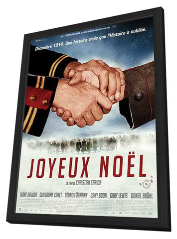 Joyeux Noël 11 x 17 Movie Poster - French Style A - in Deluxe Wood Frame