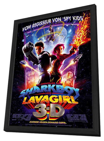 The Adventures of Sharkboy and Lavagirl 3-D 11 x 17 Movie Poster - German Style A - in Deluxe Wood Frame
