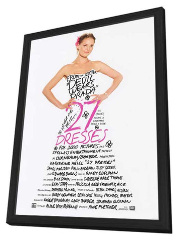 27 Dresses 27 x 40 Movie Poster - Style A - in Deluxe Wood Frame