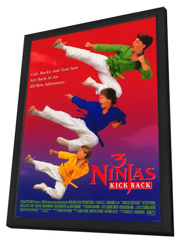 3 Ninjas Kick Back 11 x 17 Movie Poster - Style A - in Deluxe Wood Frame