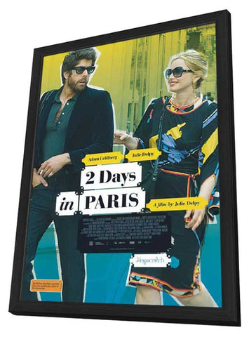 2 Days in Paris 11 x 17 Movie Poster - Australian Style A - in Deluxe Wood Frame