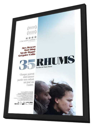 35 Shots of Rum 27 x 40 Movie Poster - French Style A - in Deluxe Wood Frame