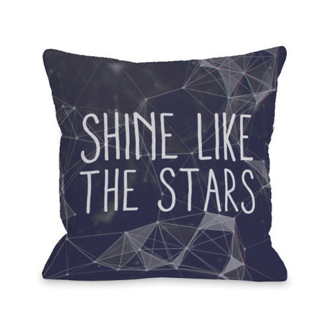 Shine Like The Stars - Navy Throw Pillow by OBC 18 X 18
