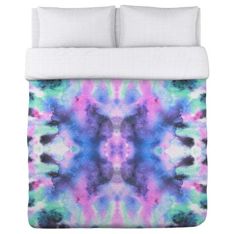 Abstract Ink Colors - Multi Duvet Cover by OBC 88 X 88