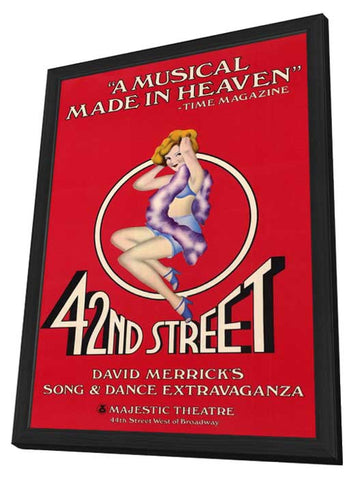 42nd Street (Broadway) 11 x 17 Poster - Style A - in Deluxe Wood Frame