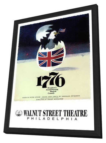 1776 (Broadway) 11 x 17 Poster - Style B - in Deluxe Wood Frame
