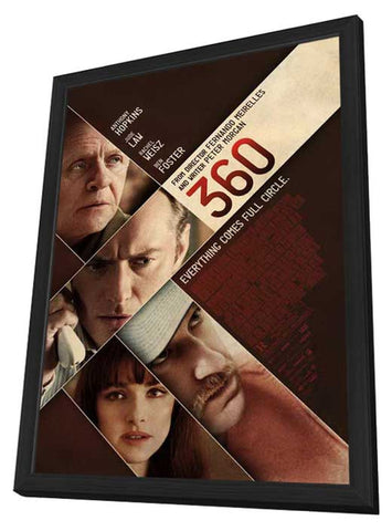 360 11 x 17 Movie Poster - Style A - in Deluxe Wood Frame
