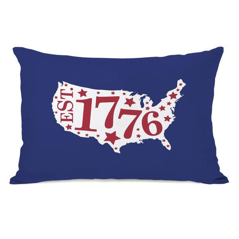 1776 Map Throw Pillow by