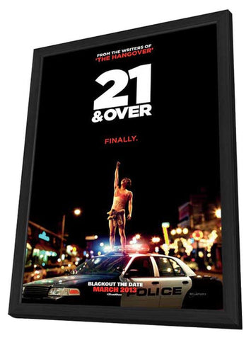 21 and Over 11 x 17 Movie Poster - Style A - in Deluxe Wood Frame