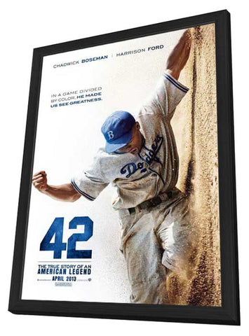 42 11 x 17 Movie Poster - Style A - in Deluxe Wood Frame