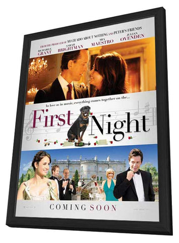 1st Night 11 x 17 Movie Poster - UK Style A - in Deluxe Wood Frame
