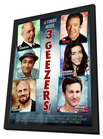 3 Geezers! 27 x 40 Movie Poster - Style A - in Deluxe Wood Frame