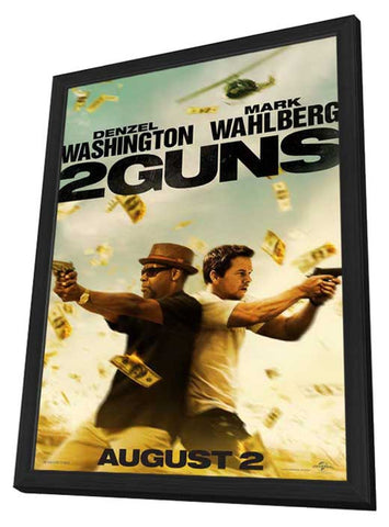 2 Guns 27 x 40 Movie Poster - Style A - in Deluxe Wood Frame